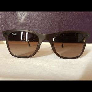 RayBan light Ray gold and brown sunglasses